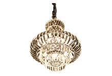Round Crystal Strips Chandelier