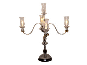 Golden Candelabra with Glass Container