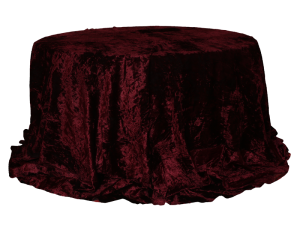 Round-Table-with-Maroon-Velvet-Cover