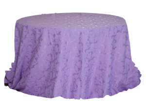 Round-Table-with-Purple-Jacquard-Cover